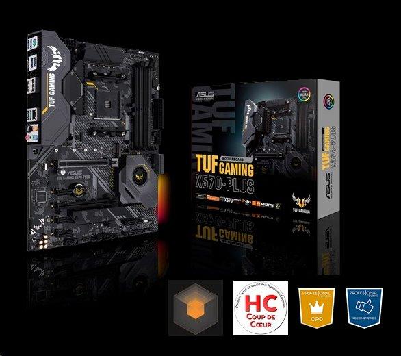 ASUS TUF GAMING X570-PLUS soc AM4 X570 DDR4 ATX M 2 RAID HDMI DP