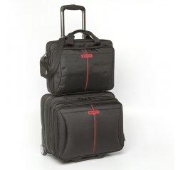 """Verbatim Frankfurt - kufr  s kolečky na notebook 15,6"""", černý + internetová televízia SledovanieTV na dva mesiace v hodnote 11,98 €"""