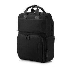 """Batoh na notebook 15,6"""", ENVY Urban, čierny z polyesteru, rukoväť z pravej kože, HP"""