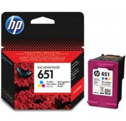 HP 651 ORIGINAL ATRAMENT C2P11AE, TRI-COLOUR, 300 STRAN