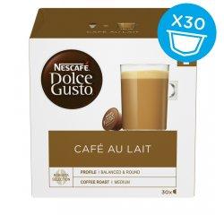 NESCAFE DOLCE GUSTO CAFE AU LAIT MAGNUM PACK 30KS VYHRAJTE ZÁSOBU KÁVY NA CELÝ ROK