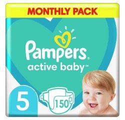 PAMPERS ACTIVE BABY S5 150KS, 11-16KG