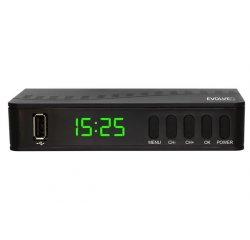 EVOLVEO Alpha T2, HD DVB-T2 H.265/HEVC multimediální rekordér, HDMI, SCART, USB
